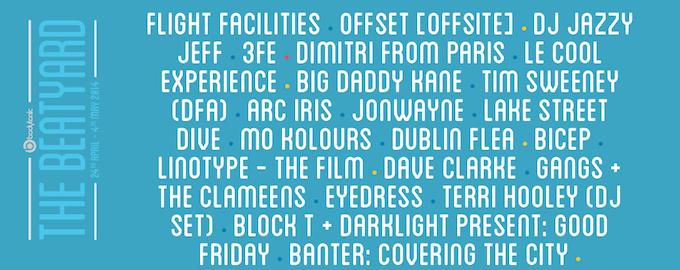 Beatyard Dublin lineup 2014