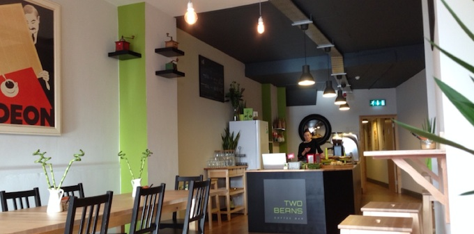 Two Beans café in Dún Laoghaire