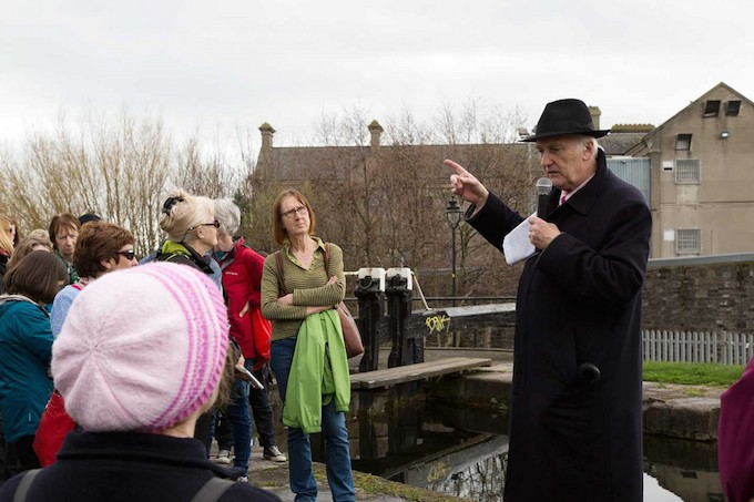 Pat Liddy on the banks of the Royal Canal in Dublin