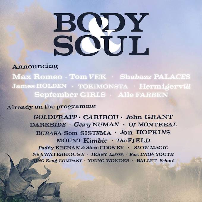 The lineup for the 2014 Body & Soul festival in Ireland