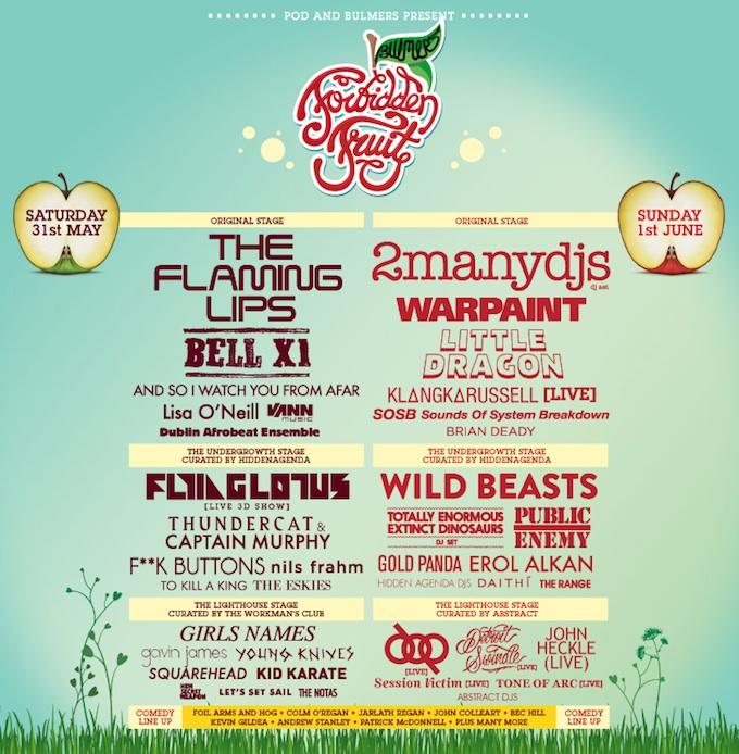 Forbidden Fruit festival 2014 in Dublin