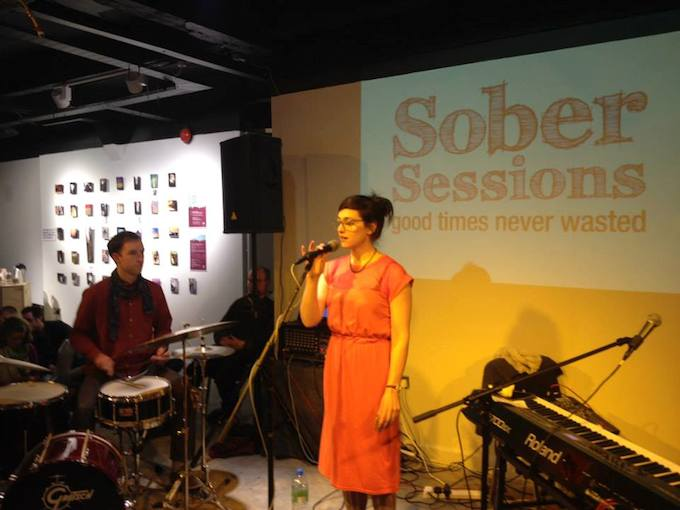 Inni-K performs at the inaugural Sober Sessions