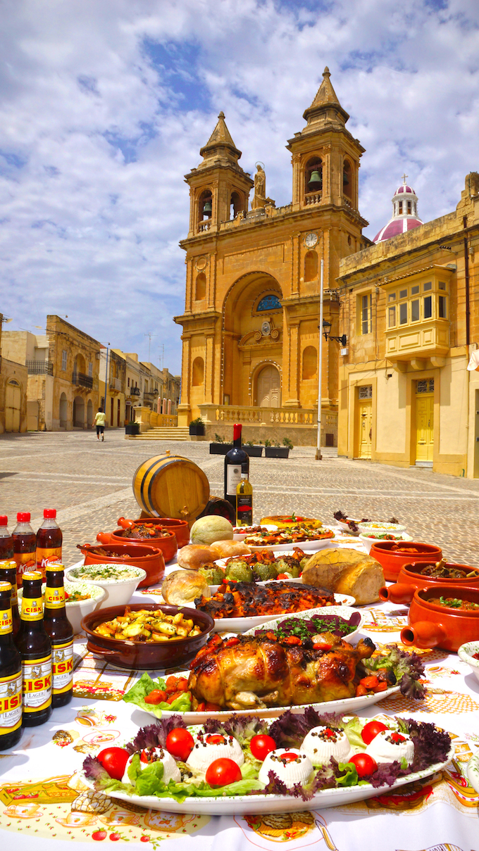 Impressive display of Maltese foods
