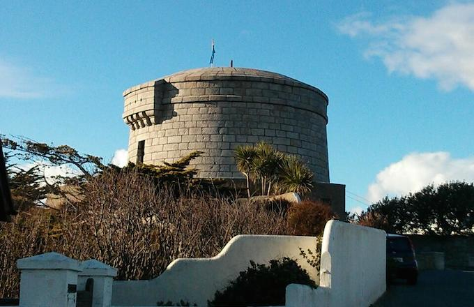 The Martello Tower in Sandycove in Dublin