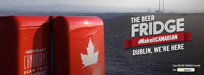 Molson Canadian beer fridges coming to Dublin