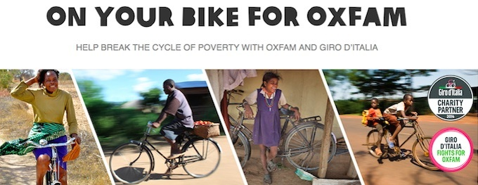 On Your Bike For Oxfam Giro d'Italia 2014