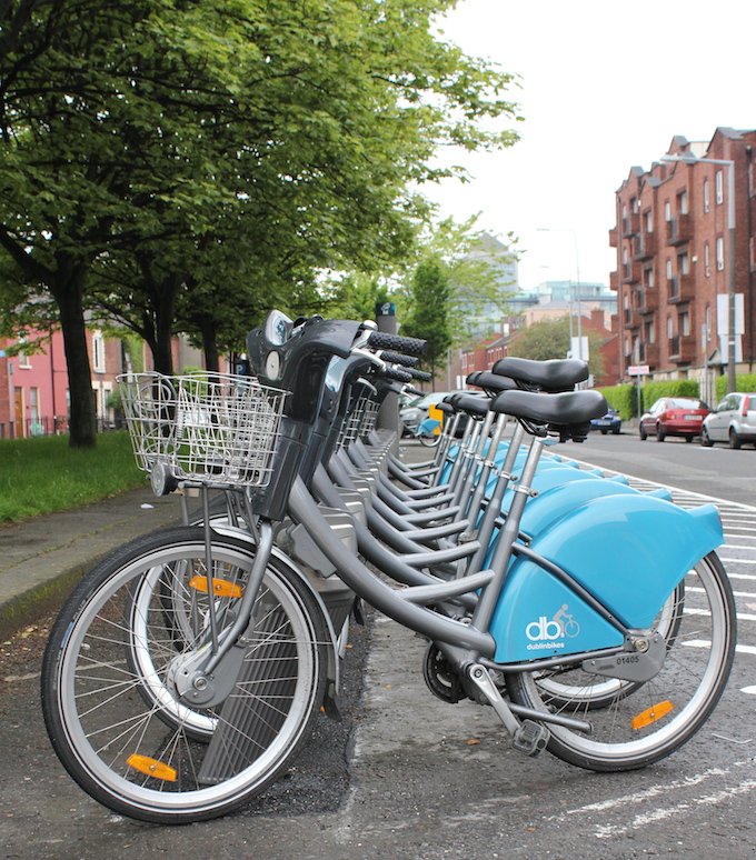 Dublin Bikes station on Townsend Street