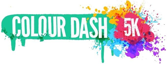 Colour Dash 2014 in the Phoenix Park in Dublin