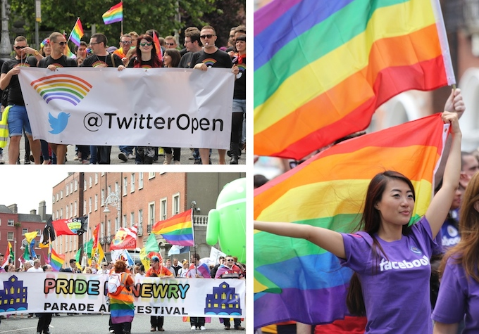 Twitter and Facebook @ Dublin Pride Parade 2014