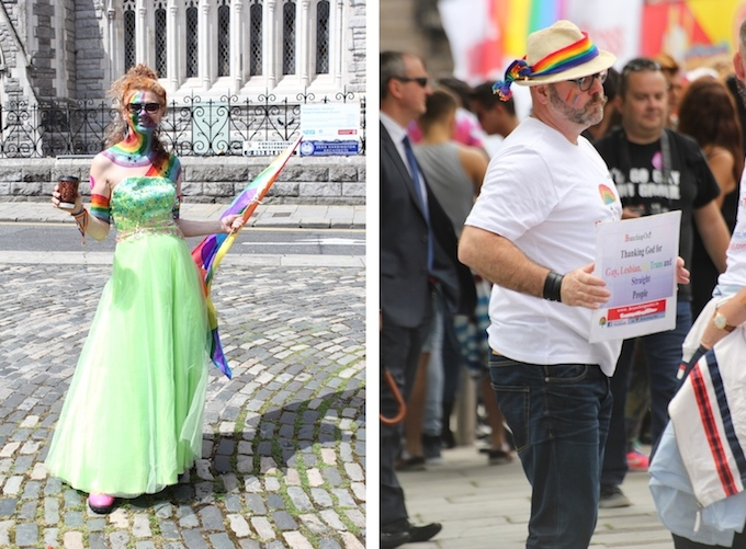 Some spectators at Dublin Pride Parade 2014
