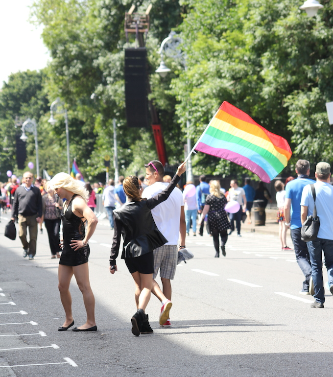 Dublin Pride Parade 2014 arrives at Merrion Square