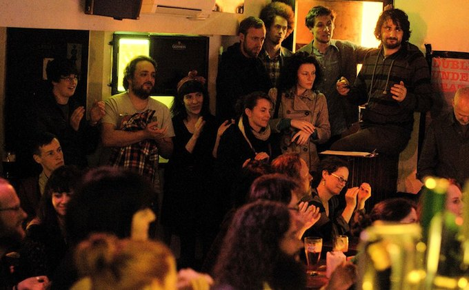 Crowd at Monday Echo in Dublin