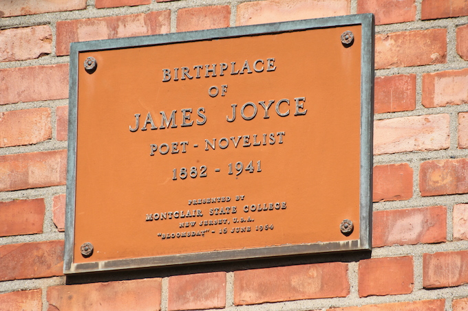 Plaque at James Joyce birthplace in Dublin