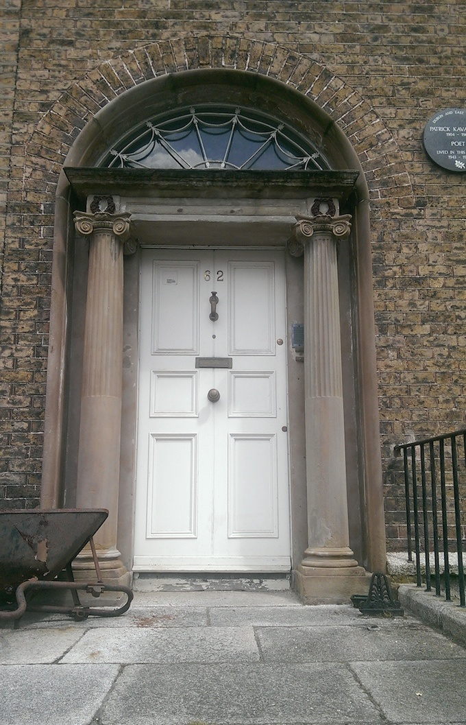 Patrick Kavanagh lived at 62, Pembroke Road in Dublin