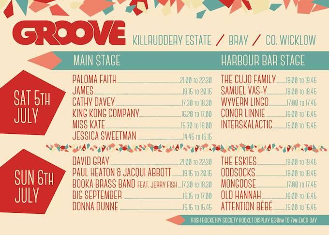 Groove Festival programme