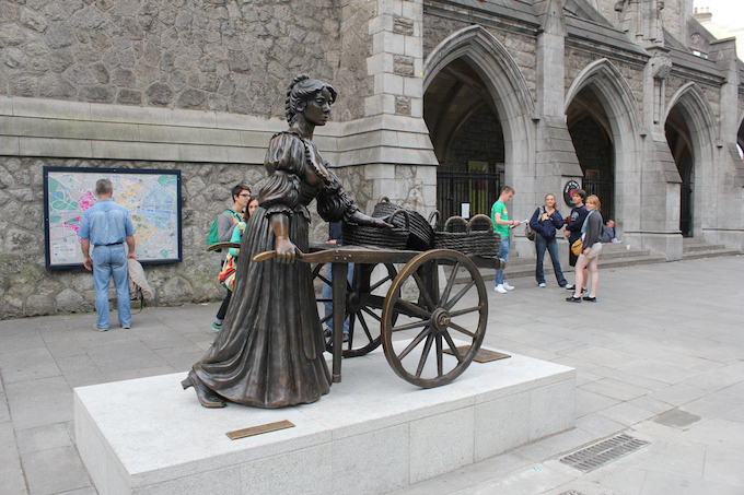 Molly Malone in her new home on Suffolk Street in Dublin
