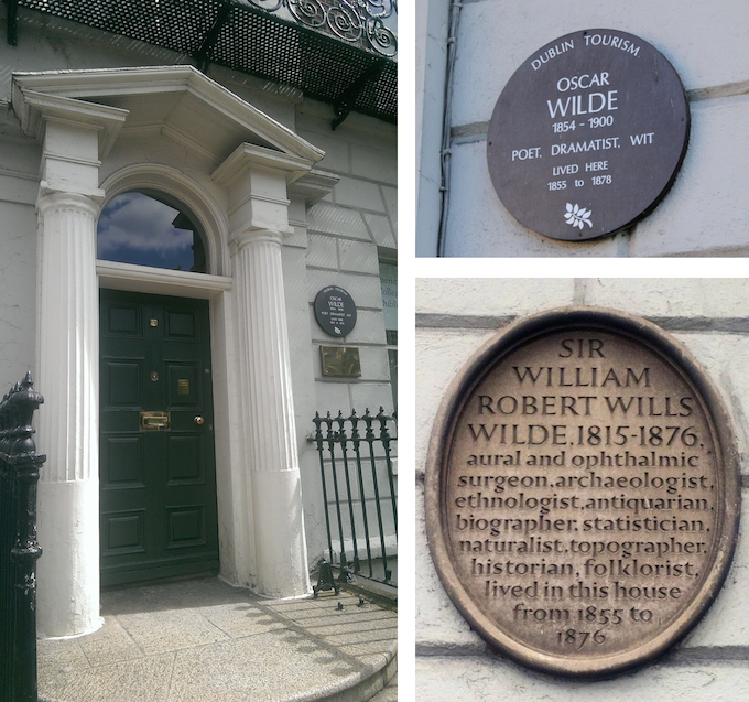 Childhood home of Oscar Wilde in Merrion Square, Dublin