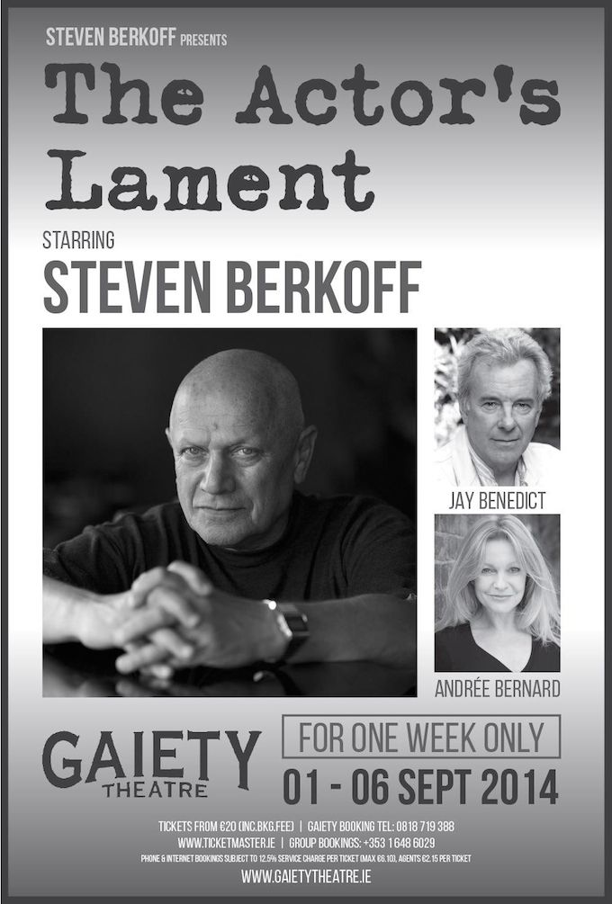 Steven Berkoff brings An Actor's Lament to Dublin
