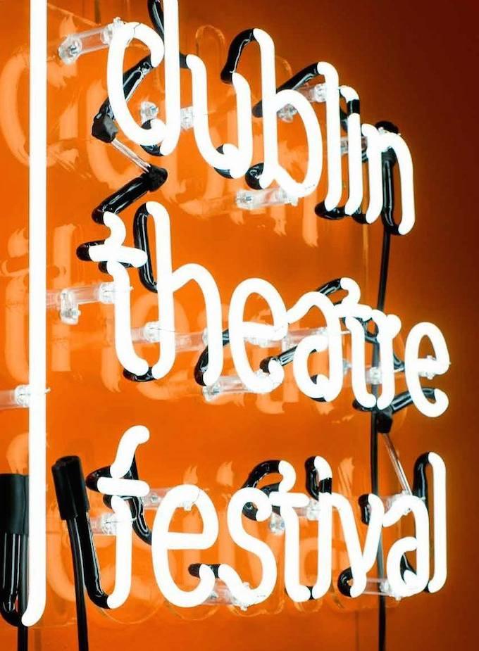 2014 Dublin Theatre Festival sign
