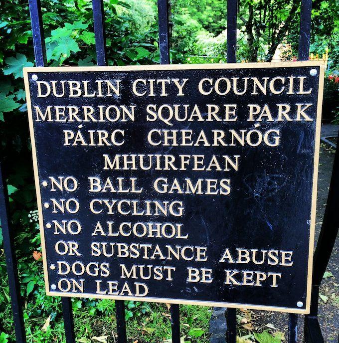 Merrion Square in Dublin