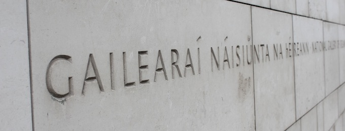 National Gallery of Ireland sign