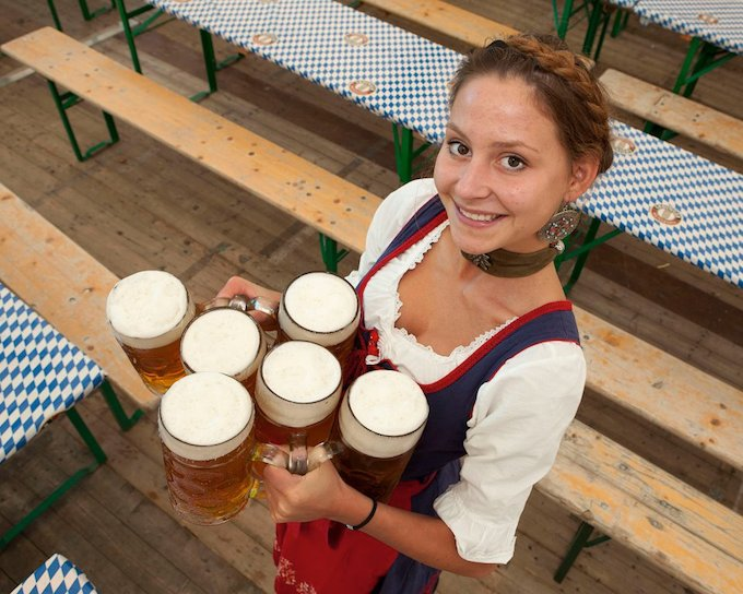 Waitress at Oktoberfest in Dublin 2013