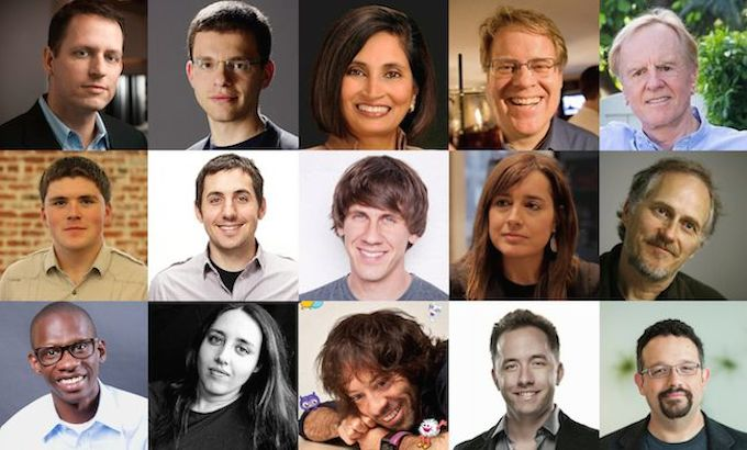 Selection of the speakers at 2014 Web Summit in Dublin