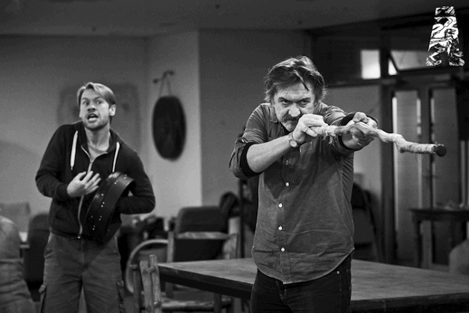 Rehearsals for Sive in the Abbey Theatre, Dublin
