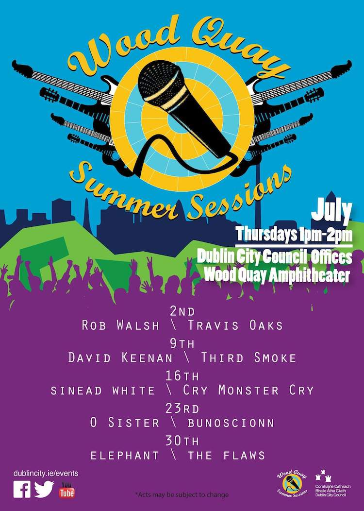 wood quay summer concerts poster