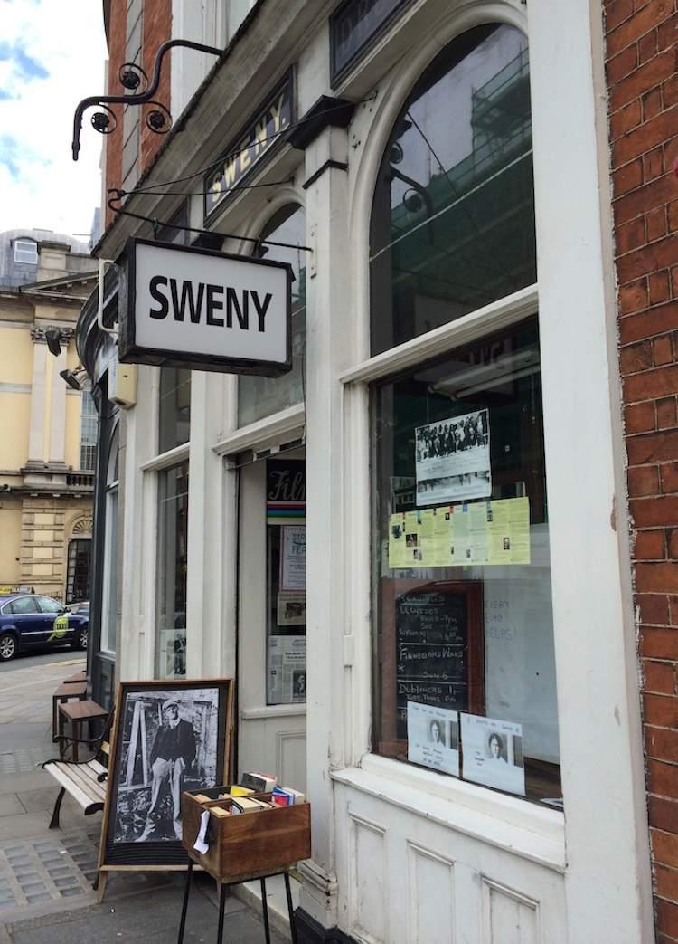 The facade of Sweny's Pharmacy in Dublin