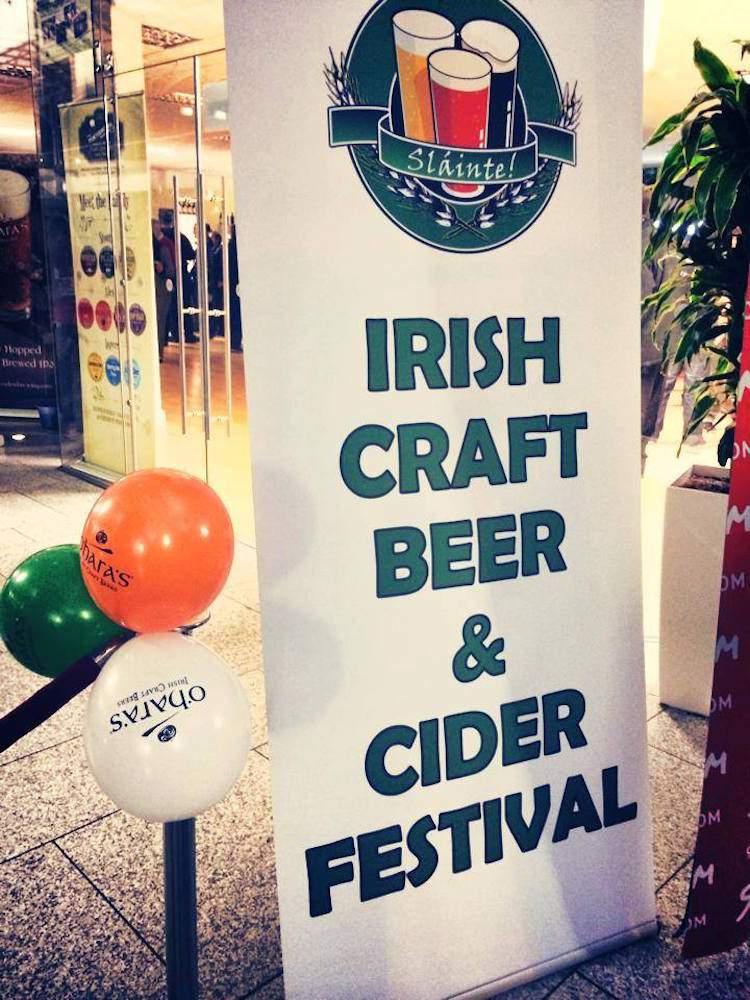 Irish Craft Beer & Cider Fest signage