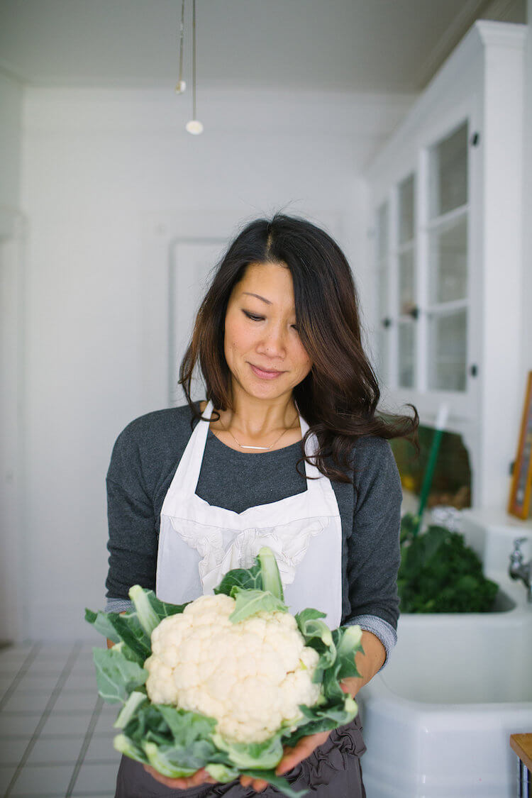Doris Choi in the kitchen