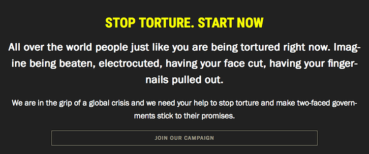 Amnesty International Ireland Stop torture Campaign