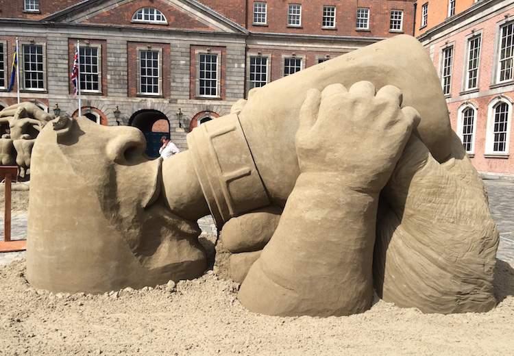 dublin castle sand sculpture exhibition 2015
