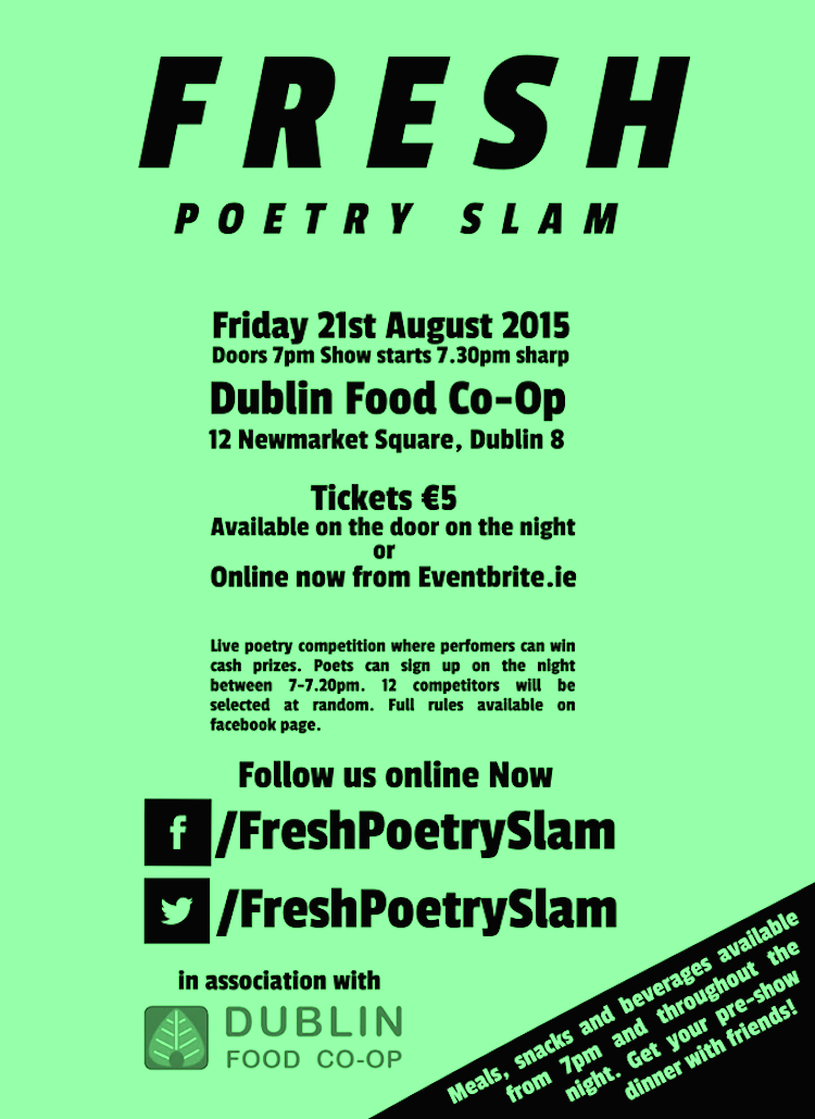 Fresh Poetry Slam in Dublin