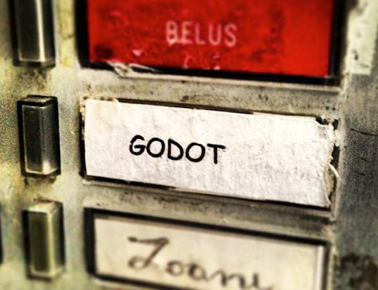 Waiting for Godot at his door!