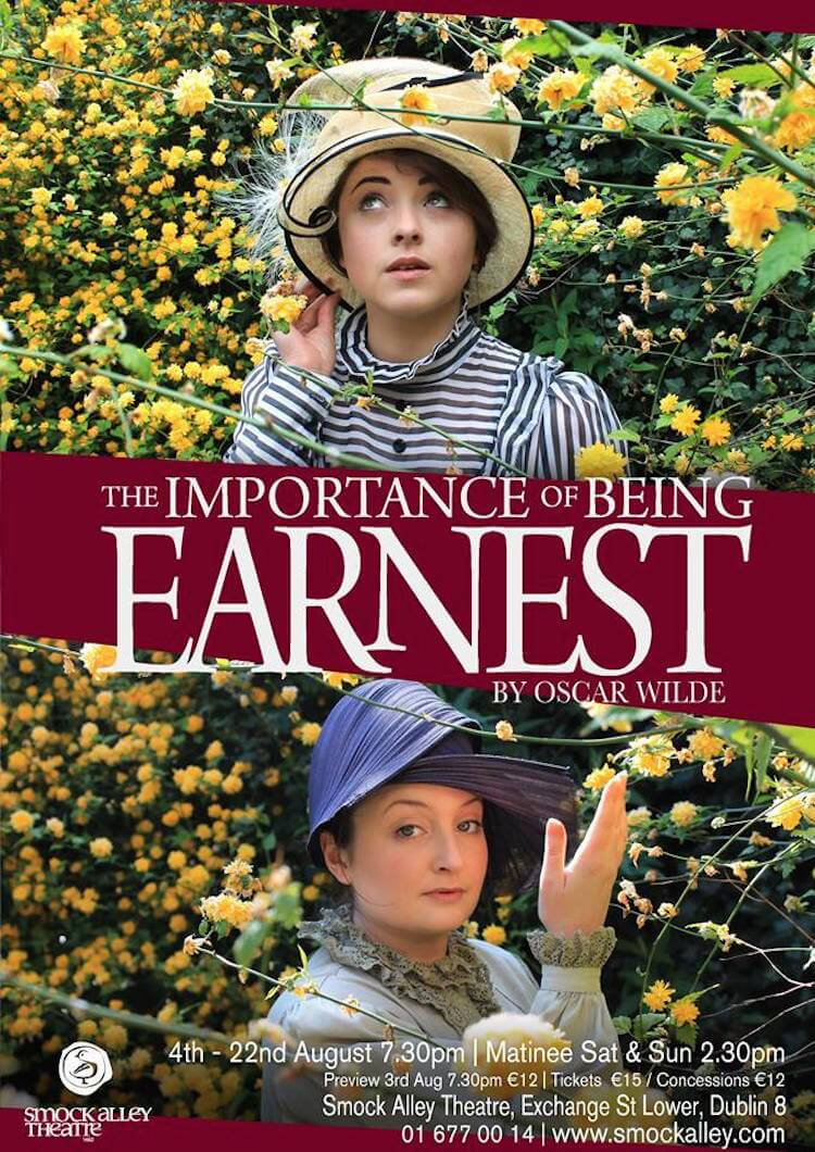 The Importance of Being Earnest comes to Smock Alley Theatre this August.