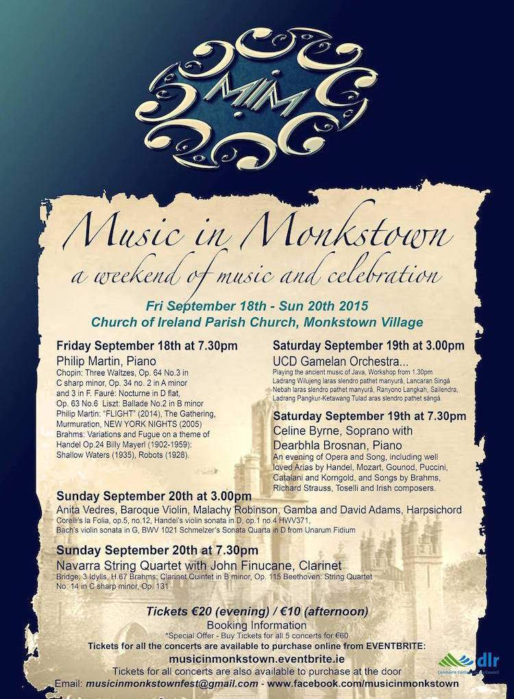 Music in Monkstown 2015 poster