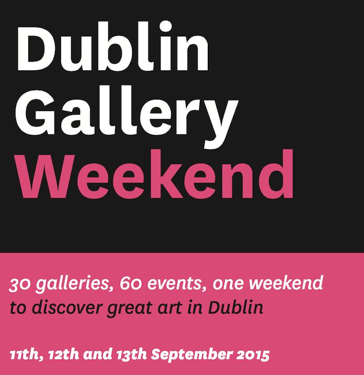 Dublin Gallery Weekend this September