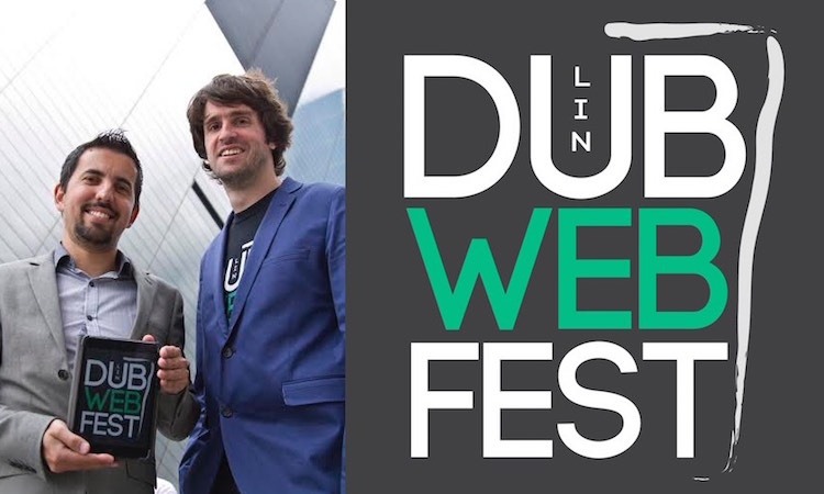 Dublin Web Fest founders Mikael Thiery and Erol Mustafov