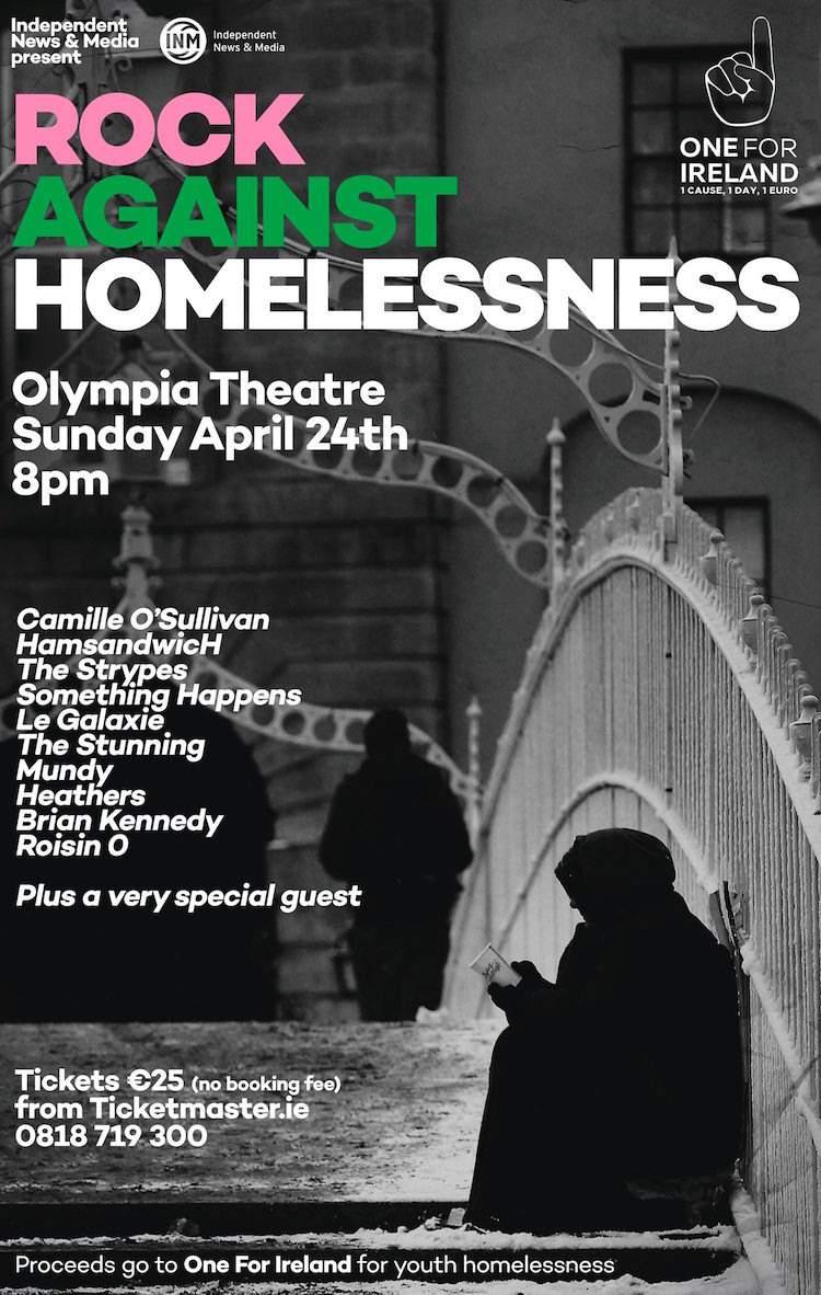 Rock for Homelessness poster