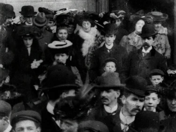 Congregation Leaving Jesuit Church of St Francis Xavier, Dublin (1902)